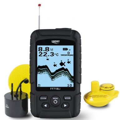 2 in 1 wireless and transducer fishfinder
